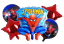 UK SELLER 5 PCS SPIDERMAN BALLOON BOUQUET FREE DELIVERY SAME DAY DISPATCH