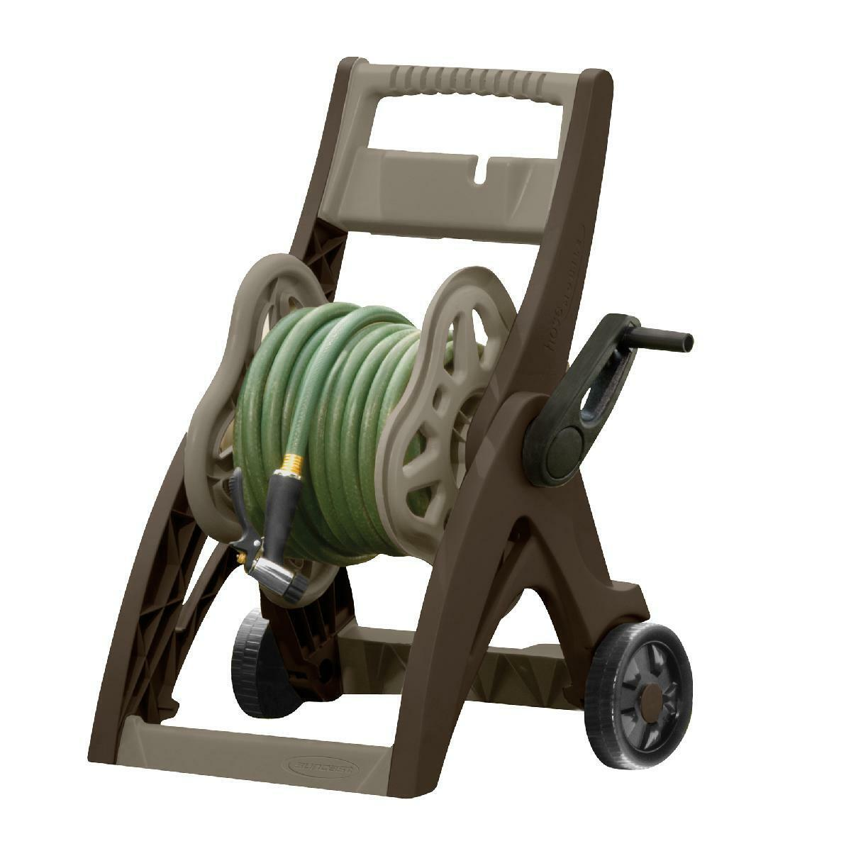 175 ft. Hose Reel Cart Water Garden Wash Car Outdoor High Quality Resin Taupe