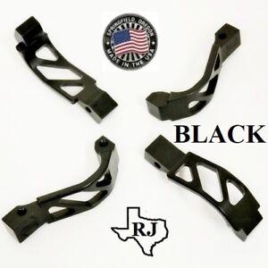 Billet Aluminum oversized Enhanced Skeleton Trigger Guard winter BLACK  223//308