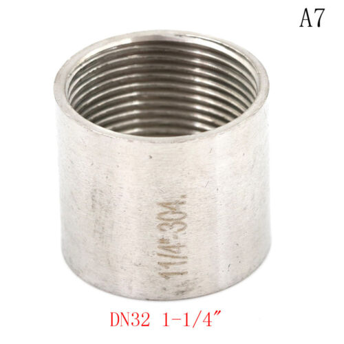 "1//8/"" 2/"" Female x Female Threaded Pipe Fitting Stainless Steel SS304 NPT LZ"