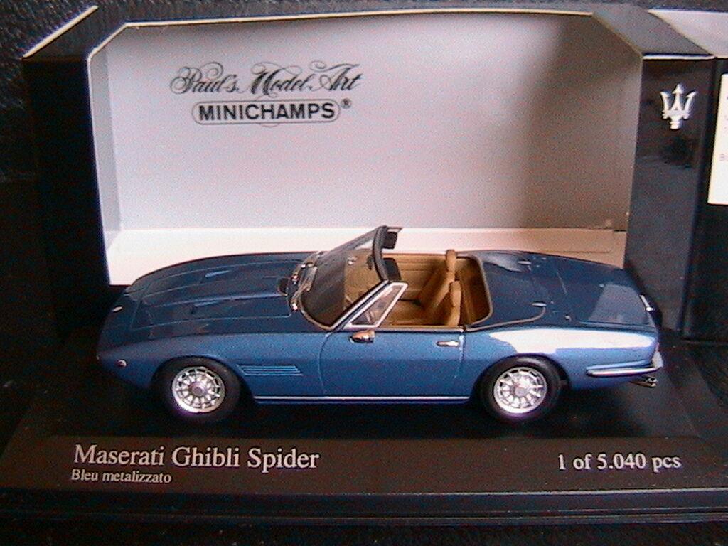 MASERATI GHIBLI SPIDER 1969 BLEU METALIZZATO MINICHAMPS 400123330 1 43 bleu MET