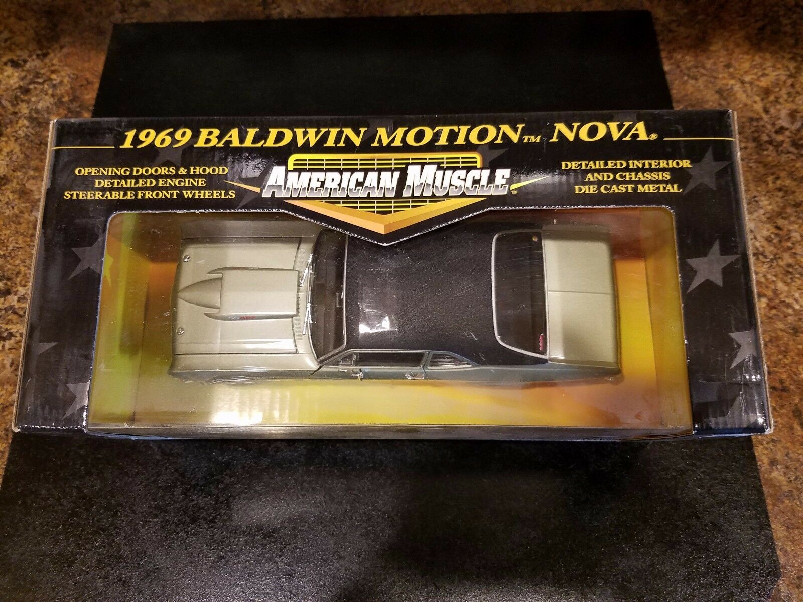 ERTL collectibles AMERICAN MUSCLE 1 18 scale 1969 Baldwin Baldwin Baldwin Motion Nova 07ec4f