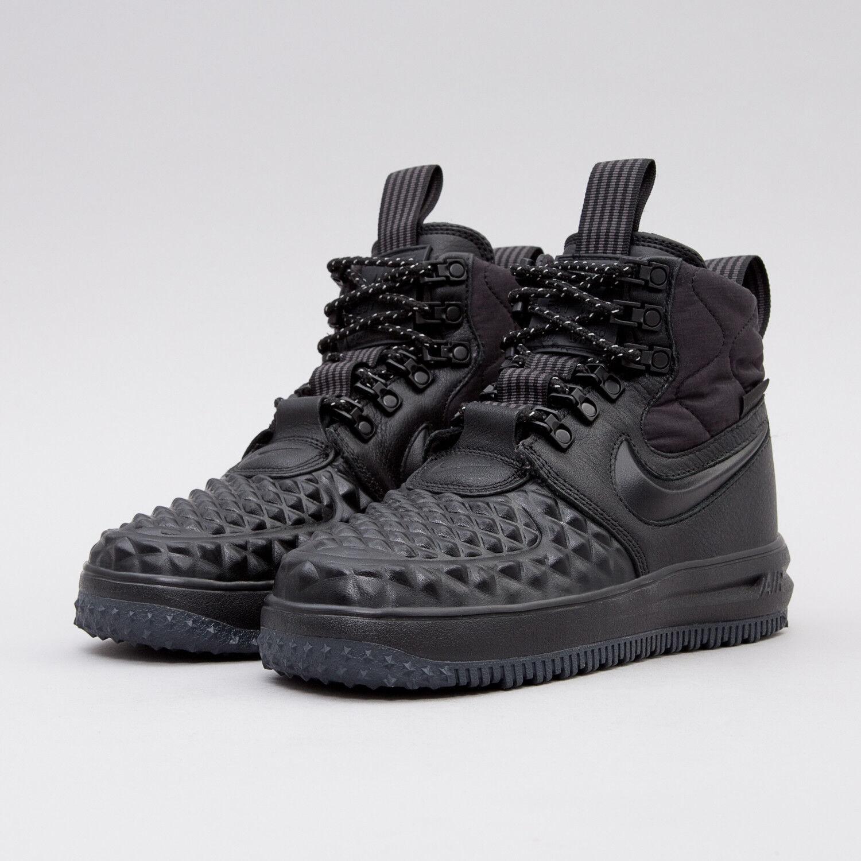 Nike WMNS Lunar Force 1 Duckboot AA0283 001 Triple Black Women SZ 6 - 9.5