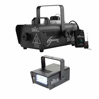 Chauvet Dj Hurricane 1000 H1000 Fog Smoke Machine W/ch-730 Mini Strobe Led Light on sale