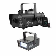 CHAUVET DJ Hurricane 1000 H1000 Fog Smoke Machine w/CH-730 Mini Strobe LED Light