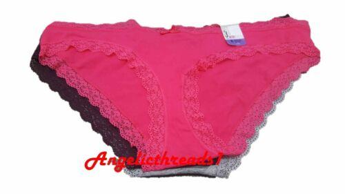 Primark 3 PK señoras para mujer Mini Brief Underwear Culotte pirata NUEVO