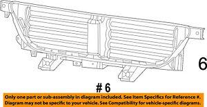 details about dodge chrysler oem 13 16 dart front bumper grille shutter assembly 68302653ab 2011 Dodge Ram 1500 Wiring Diagram