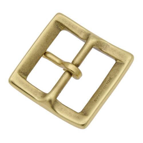 Mens 1.5 Inch Solid Brass Belt Bucket Golden Square Shape Belt Replacement Part