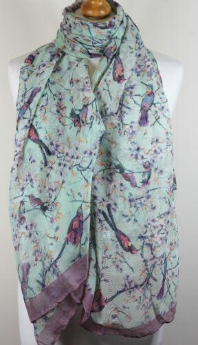 Ladies Scarf Butterfly Birds Hedgehog Fox Dog Animal Print Sarong Maxi  Wrap*