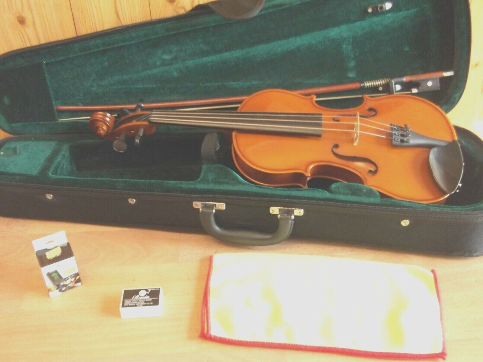 3 4 VIOLIN BY ANDREAS ZELLER ROMANIAN WORKSHOPS FOR STENTOR EXCELLENT CONDITION