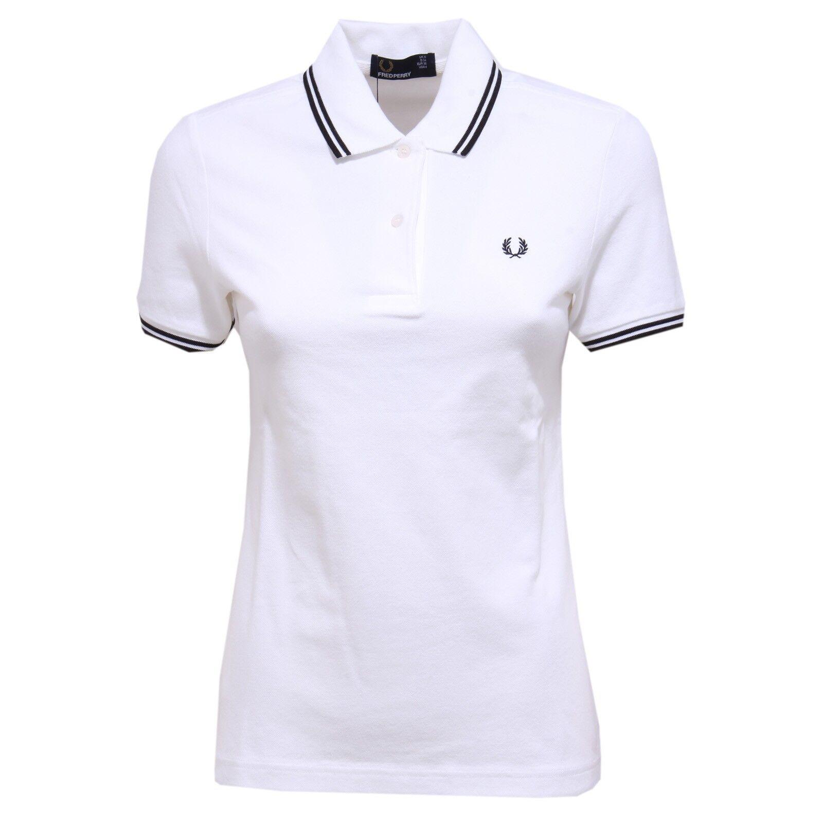 Polo Frojo  Perry mujer 0329Y blancoo Negro De Mujer Entallado Polo Camiseta  se descuenta