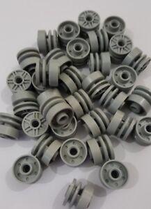 Lego lumière bleuâtre Gray Wheel 18 mm D. x 14 mm avec goupille trou (55981), 10 pièces  </span>