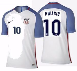 premium selection 2f80c 9e668 Details about NIKE CHRISTIAN PULISIC USA VAPOR MATCH AUTHENTIC HOME JERSEY  2016/17.
