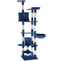 Navy Blue 80 Cat Tree Condo Furniture Scratching Post Pet Cat Kitten House