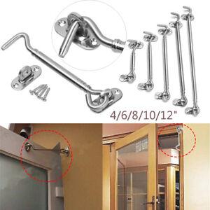 Stainless-Steel-Cabin-Hook-Door-Gate-Silent-Catch-Lock-Household-Window-Holder