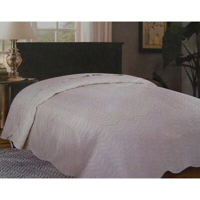 Copriletto Trapuntino elegante Pearl Leggero Primaverile Matrimoniale Bianco