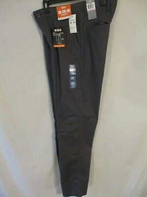 """Dockers Cotton Blnd Gray Straight Fit Flat Front """"On the Go"""" Khakis SR$60 NEW"""