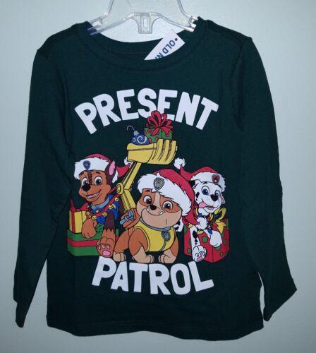 New Old Navy Chicos 12-18 18-24 2 T 3 T 5 T Paw Patrol Navidad Camiseta #15918