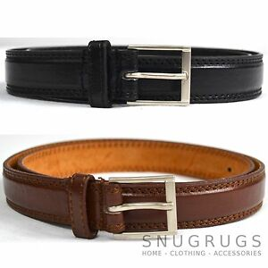 MENS-LEATHER-BELT-IN-BROWN-BLACK-TROUSER-SUIT-BELT-MILANO-ALL-SIZES