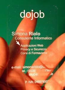 1000 BIGLIETTI DA VISITA TRASPARENTI - business cards