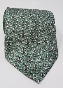 Cravatta-hermes-paris-100-pura-seta-tie-made-in-italy-original-verde
