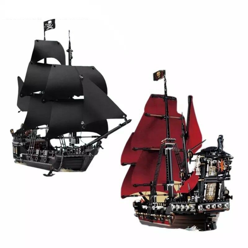 16006 & 16009 The Pirate negro Pearl Navy modelo