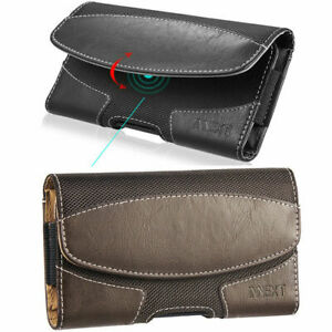 Horizontal-Leather-Pouch-Case-Cover-Belt-Clip-Holster-For-Large-Phones-Otterbox