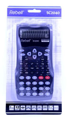 Restposten! Rebell SC 2040 Taschenrechner Wissenschaftl.Schulrechner Neu