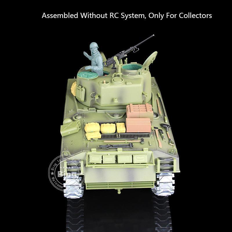 Henglong Meta Model 1 16 USA M4A3 Sherman Static Tank 3898 W O Main Board Radio