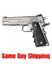 Hogue Colt 1911 Government Model Black Rubber Grip With Finger Grooves .45 45000