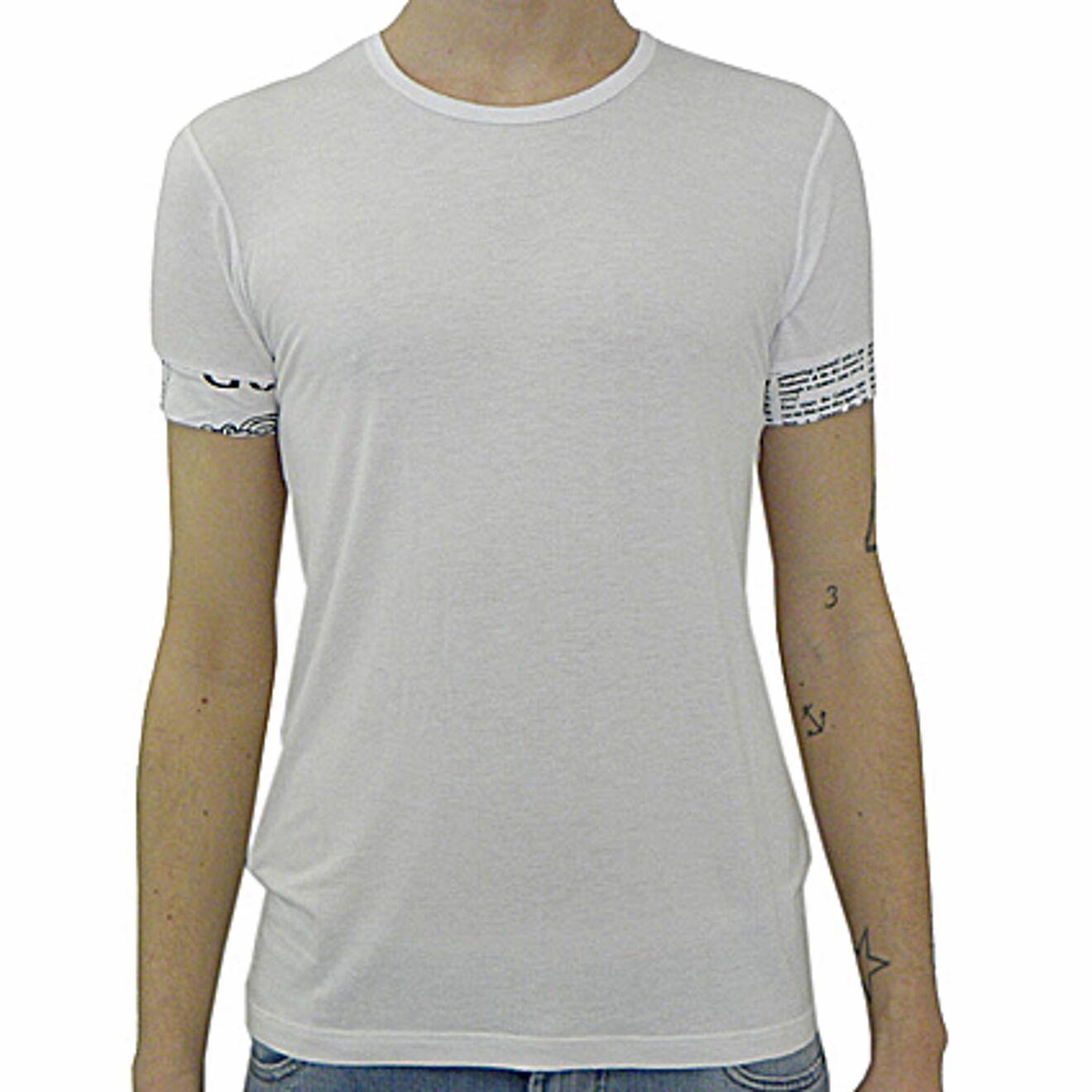John Galliano T-shirt sleeve lapel gazette, t-shirt lapel gazette