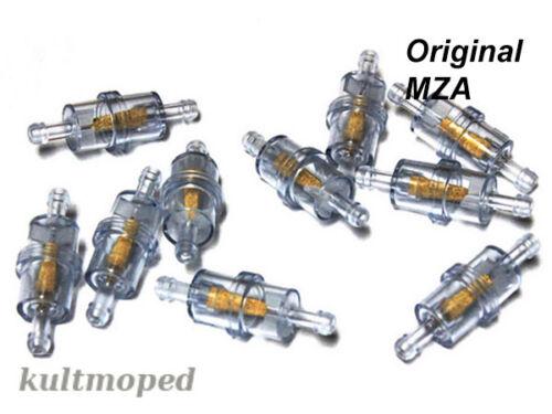 10stk Mofa Moped Benzinfilter 6 mm Anchluss Zündapp Kreidler Hercules Schwalbe