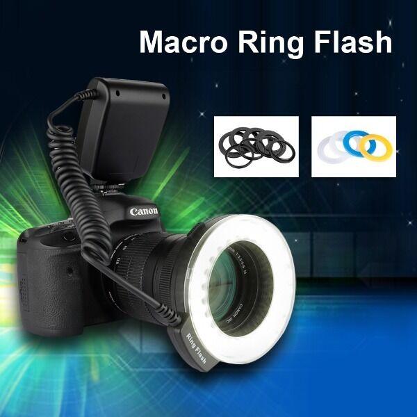 LED Macro Ring Flash Light for Canon EOS 7D 50D 60D 550D 650D 600D 1100D DSLR