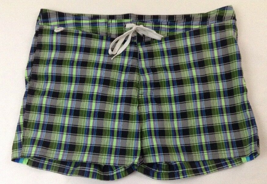 SUNDEK Men's Multi-color Plaid Meshed Lined Swim Short Trunk Size 36
