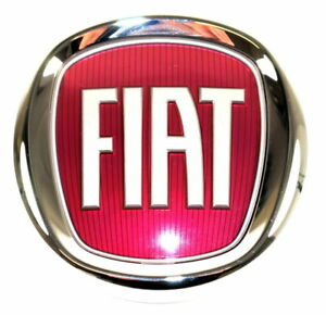 fiat 500 500l front grille bumper badge red logo emblem new genuine 51932710 3498624021926. Black Bedroom Furniture Sets. Home Design Ideas