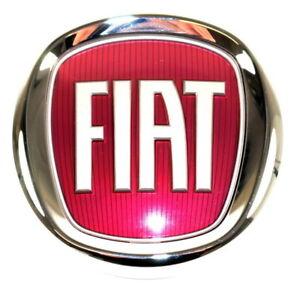 fiat 500 500l front grille bumper badge red logo emblem new genuine 51932710 ebay. Black Bedroom Furniture Sets. Home Design Ideas