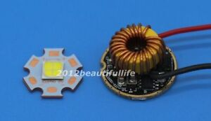 CREE XHP70 6V 3200k LED Emitter Didoes+4.5A 26mm 1 Mode or 5 Modes Driver Lens