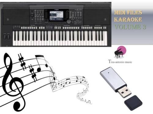 MIDI File Karaoke USB stick for PSR S750 S770 Vol 3 NEW