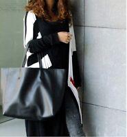 Big Genuine Leather Women Tote Bag Shoulder Handbag Shopper Shopping Cabas E5001