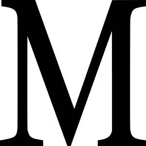 Mu Vinyl Sticker Decal Greek Letter M Choose Size Color Ebay