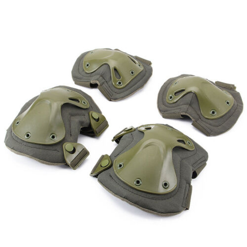 Tactical Military Elbow /& Knee Pads SWAT Airsoft Hunting Shooting CS Combat Set