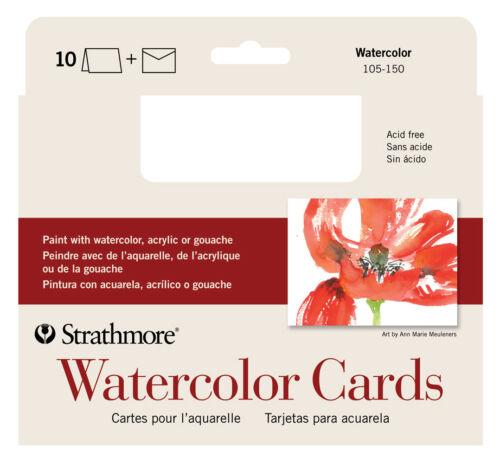 Strathmore Watercolor Greeting Card Pkg 10