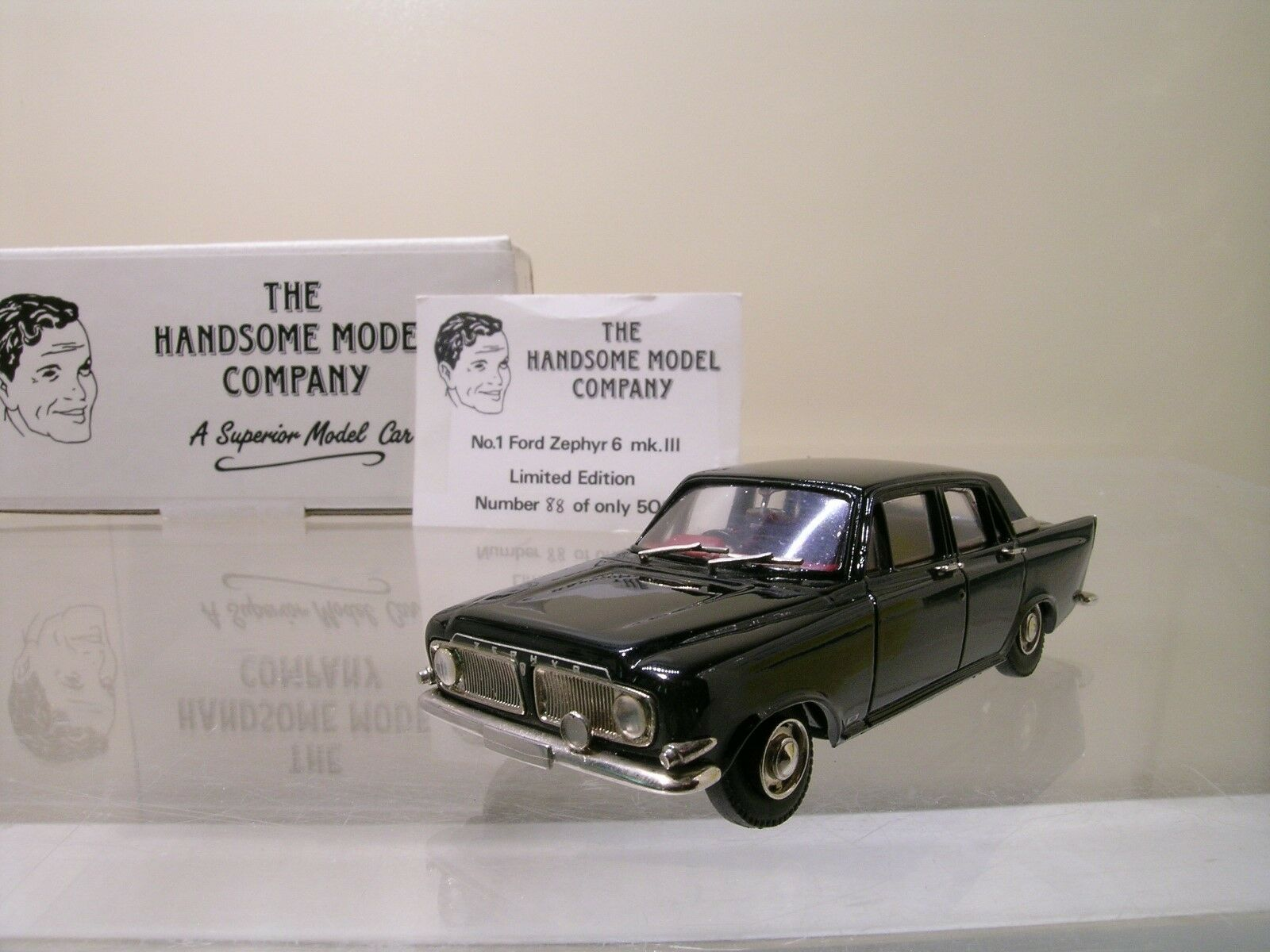 HANDSOME MODELS No.1 FORD ZEPHYR 6 MK3 2018 Negro COLOUR 143 CERTIFICATE  BOX
