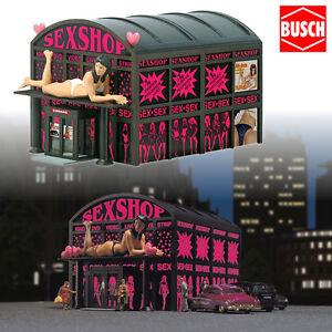 BUSCH-1004-H0-Sex-Shop-mit-Beleuchtung-NEU-amp-OVP