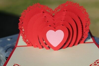 Valentines Day Pop Up Card Suitable For Wife Fiancee Partner