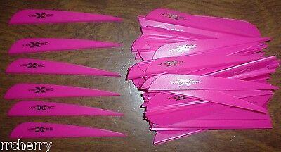 """Archery Hot Pink Arrow Fletching Vane Tec Beautiful 100 4"""" Flo Red Vanetec V-max Vanes Fletches"""