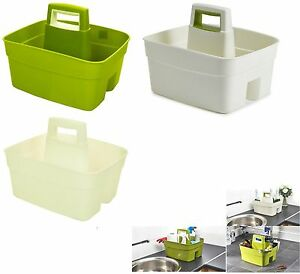 LARGE PLASTIC KITCHEN SINK TIDY CUTLERY HOLDER ORGANISER TOOLS ...