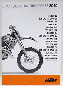 2010 10 genuine ktm 125 150 200 250 300 exc xc six days owners rh ebay com