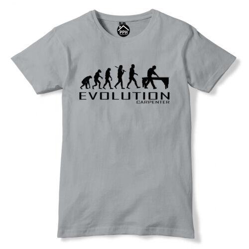 Carpenter Evolution Tshirt Chippy Mens Chainsaw T Shirt Trade Builder Wood PT29