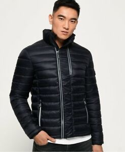 Anaglyph in Ship Superdry Navy mondo Fuji Jacket Blue Quilted il tutto Mens wqq8a